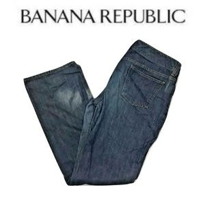 Banana Republic Size 12 Flare Jeans Distressed
